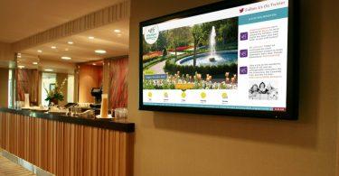 mídia indoor em hotéis