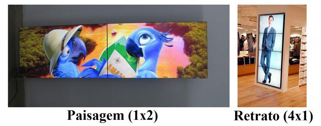 exemplos de formatos video wall