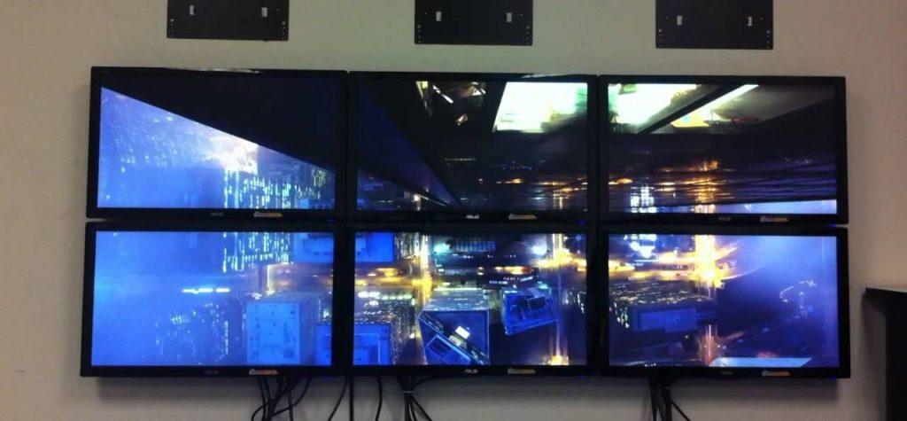 video wall bordas grossas